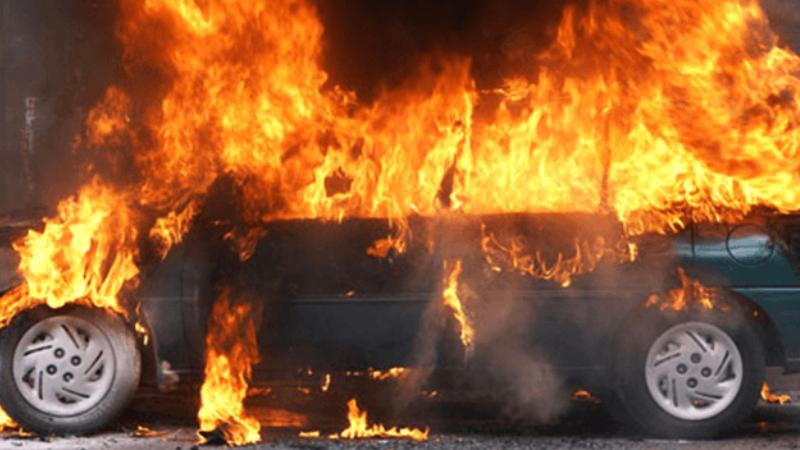 Երևանում ամբողջությամբ այրվել է «Mazda 6» մակնիշի ավտոմեքենա․ վարորդը հոսպիտալացվել է