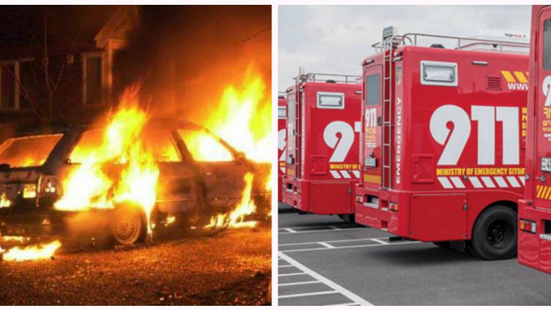 Տավուշի մարզում ամբողջությամբ այրվել է «ՎԱԶ-2107» մակնիշի ավտոմեքենա․ ԱԻՆ