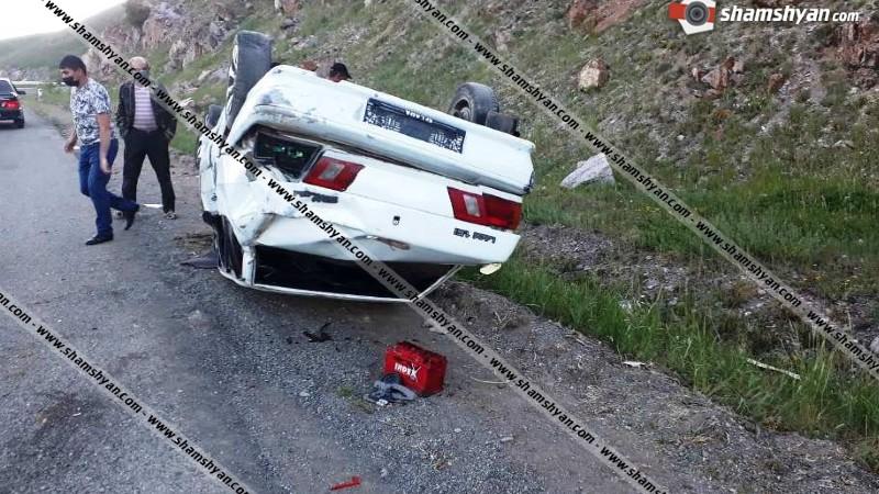 Խոշոր ավտովթար Գեղարքունիքի մարզում. ՎԱԶ 2115-ը գլխիվայր շրջվել է