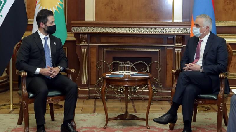 Փոխվարչապետի պաշտոնակատար Մհեր Գրիգորյանը հանդիպում է ունեցել Իրաքյան Քուրդիստանի փոխվարչապետի հետ