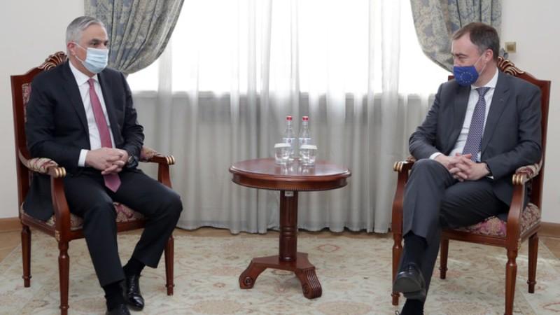 Փոխվարչապետ Մհեր Գրիգորյանն ընդունել է Հարավային Կովկասի և Վրաստանում ճգնաժամի հարցերով ԵՄ հատուկ ներկայացուցչին