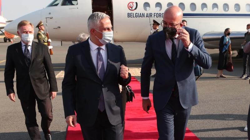 Մհեր Գրիգորյանը դիմավորել է երկօրյա այցով Հայաստան ժամանած Եվրոպական խորհրդի նախագահ Շառլ Միշելին