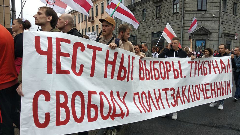 Մինսկի այսօրվա ցույցերին շուրջ 100 հազար մարդ է մասնակցել (լուսանկարներ)
