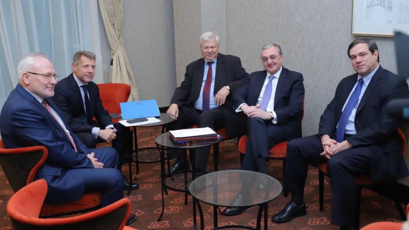 Զոհրաբ Մնացականյանը հանդիպել է ԵԱՀԿ Մինսկի Խմբի համանախագահների հետ (տեսանյութ)