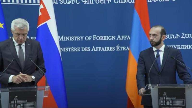 Հայաստանի և Սլովակիայի ԱԳ նախարարների համատեղ հայտարարությունը (ուղիղ միացում)
