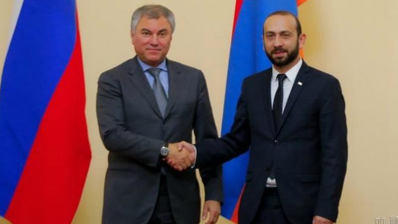 Արարատ Միրզոյանը հեռախոսազրույց է ունեցել ՌԴ Պետական դումայի նախագահ Վյաչեսլավ Վոլոդինի հետ