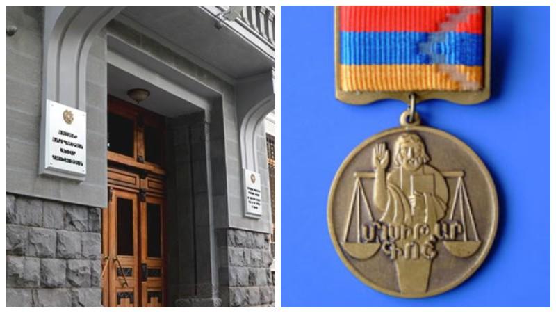 ՀՀ գլխավոր դատախազության մի շարք աշխատակիցներ պարգևատրվել են «Մխիթար Գոշի» մեդալով
