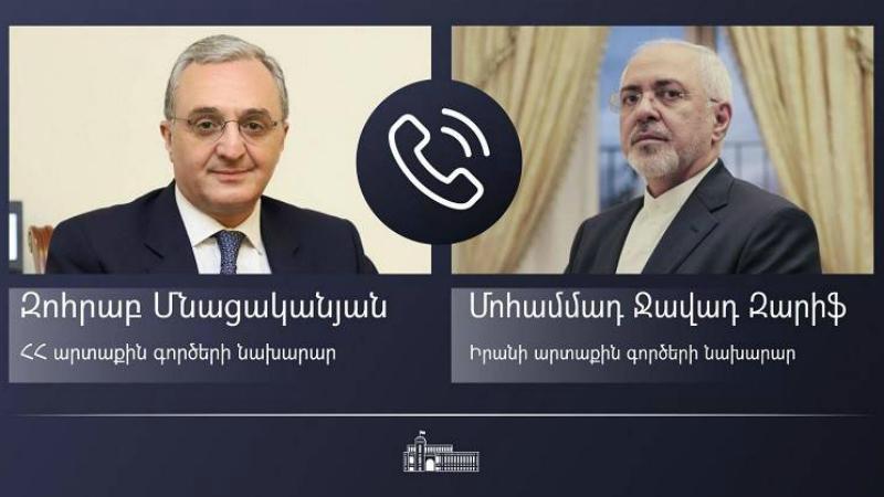 ՀՀ ԱԳՆ ղեկավարն իր իրանցի գործընկերոջը ներկայացրել է Ադրբեջանի կողմից ուժի կիրառման արդյունքում հայ-ադրբեջանական սահմանում ստեղծված իրավիճակը
