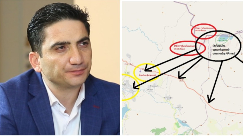 Որպեսզի ավելի լավ պատկերացնեք, թե ինչ սպառնալիք է Ադրբեջանի զորքի տեղակայումը ՀՀ Սյունիքի մարզի Սև լիճ հատվածում, քարտեզին նայեք. Նաիրի Հոխիկյան (լուսանկար)