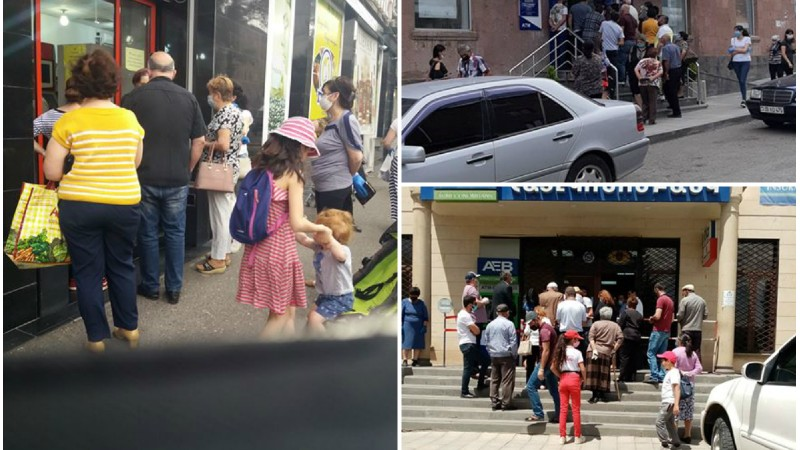 Կուտակումներ՝ բանկերի, սուպերմարկետների դիմաց․ վարչապետը լուսանկարներ է հրապարակել