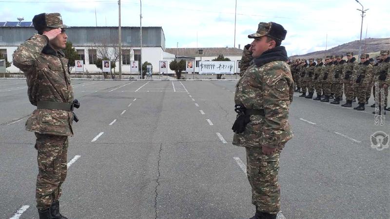 3-րդ զորամիավորման զորամասերից մեկում նորակոչիկ զինծառայողների հետ անցկացվել են շարային պատրաստության պարապմունքներ