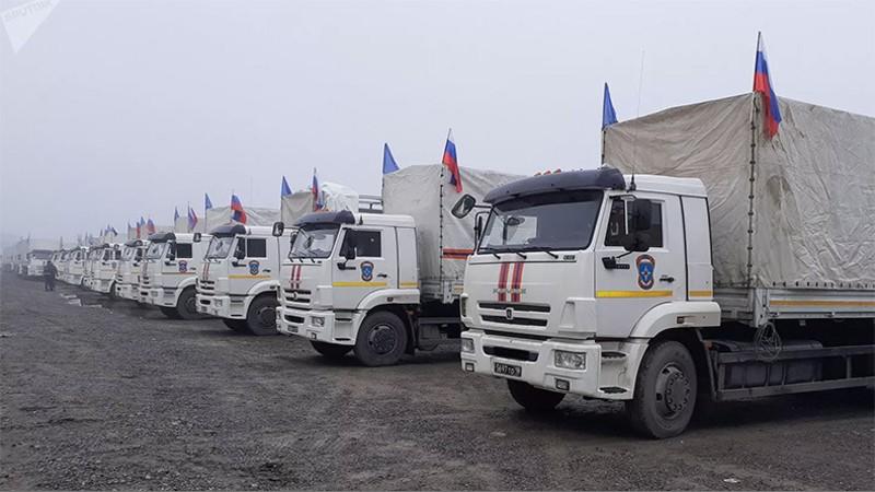 ՌԴ ԱԻՆ-ի շինարարական նյութերով շարասյունը ուղևորվել է ԼՂ