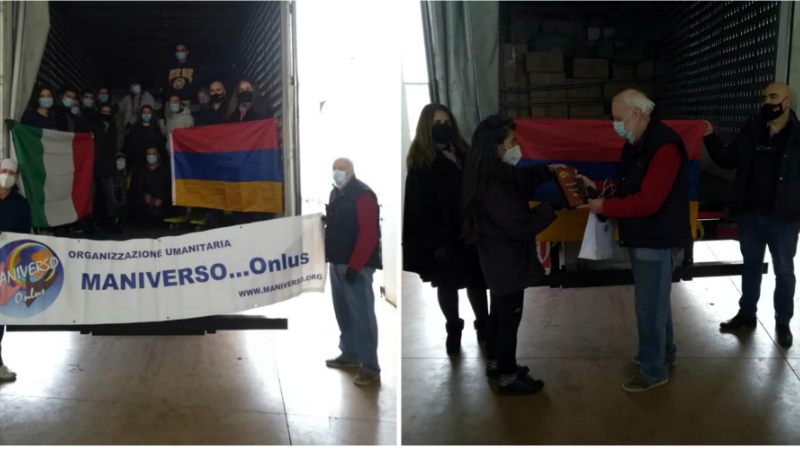 Իտալիայից Հայաստան է ուղարկվում Արցախի համար 3-րդ և ամենամեծ հումանիտար օգնության բեռը