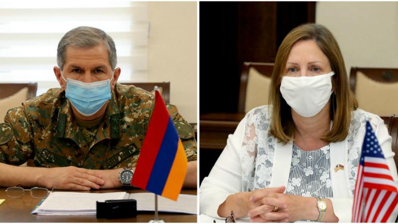 ՀՀ ԶՈՒ ԳՇ պետն ընդունել է ԱՄՆ դեսպանին․ անդրադարձ է կատարվել հայ-ադրբեջանական սահմանագոտում արձանագրված լարվածությանը և ներկայիս իրավիճակին