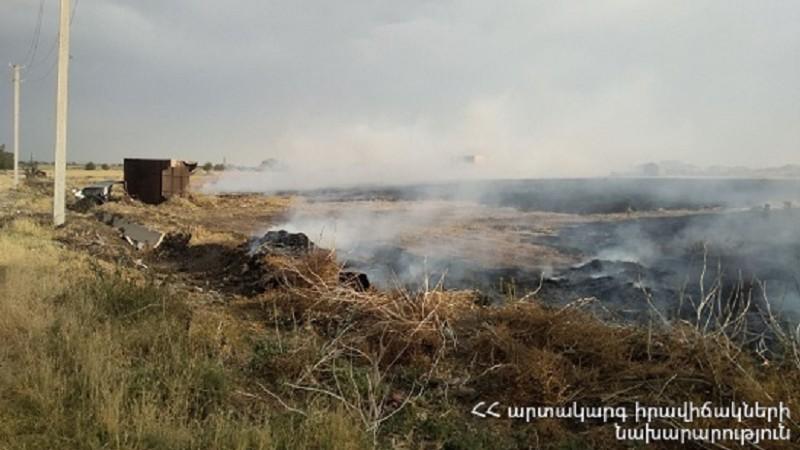 Գառնի գյուղում այրվել է մոտ 40 հա խոտածածկույթ