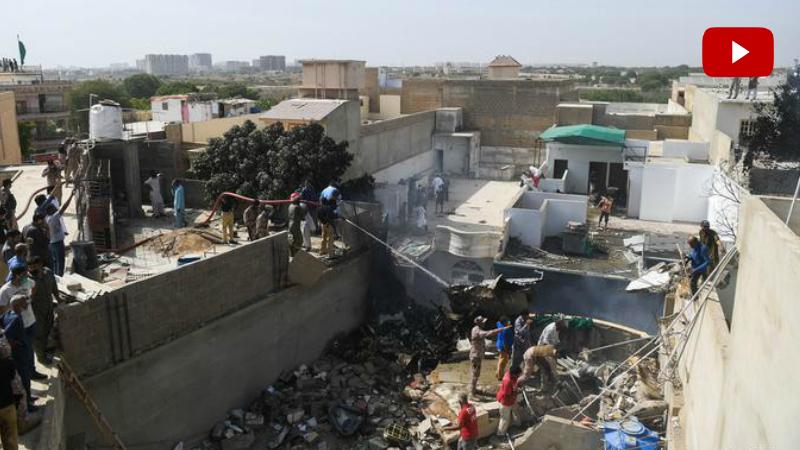 Պակիստանում ինքնաթիռ է կործանվել․ ինքնաթիռն ընկել է բնակելի թաղամասում (տեսանյութ)