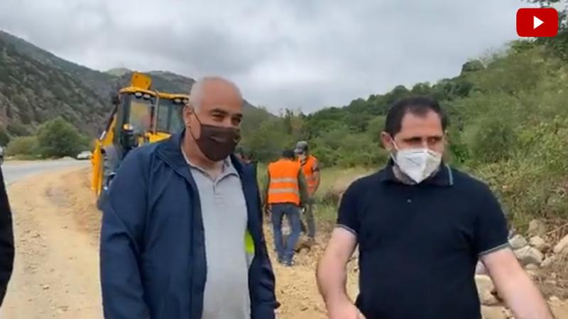 Սուրեն Պապիկյանը ներկա է գտնվել Քաջարան-Մեղրի 10 կմ երկարությամ ճանապարհի հիմնանորոգման աշխատանքներին (տեսանյութ)