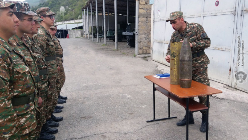 1-ին զորամիավորման զորամասերից մեկում անցկացվել են անվտանգության կանոնների պահպանման պարապմունքներ
