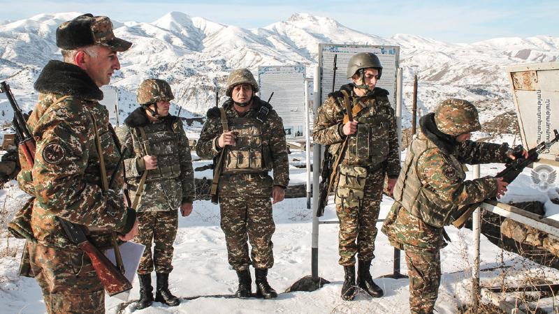 4-րդ զորամիավորման զորամասերից մեկում գործնական պարապմունքներ են անցկացվել