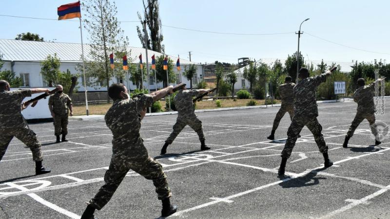 5-րդ զորամիավորումում անցկացվել է ցուցադրական պարապմունք (լուսանկարներ)
