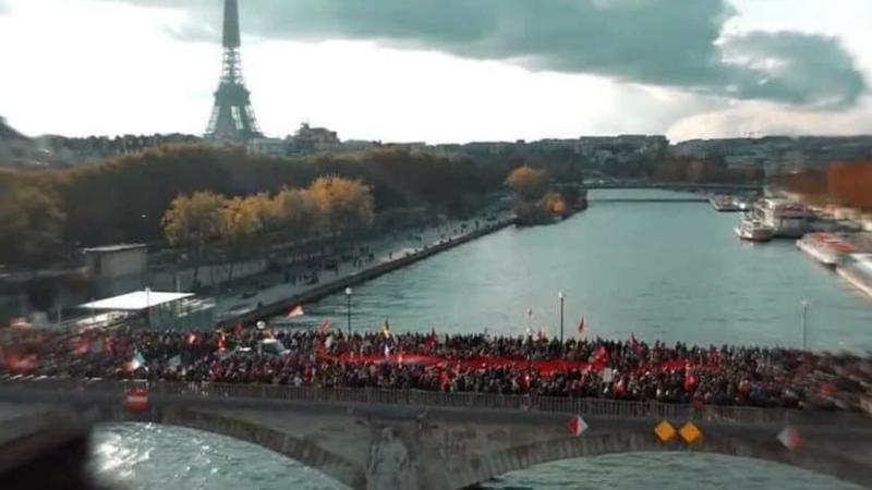 Այսօր Փարիզը կրկին հայկական էր․ մեր հայրենակիցները կրկին պահանջում են ճանաչել Արցախը