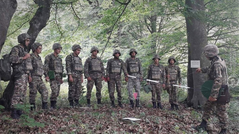 3-րդ զորամիավորման զորամասերից մեկում անցկացվել են տեսական և գործնական պարապմունքներ