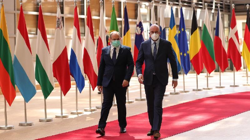 ԵԽ նախագահը Փաշինյանի հետ հանդիպմանը ողջունել է հայկական կողմի` հայ-ադրբեջանական սահմանին առկա խնդիրը խաղաղ ճանապարհով լուծելու դիրքորոշումը