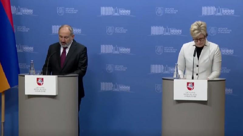 Նիկոլ Փաշինյանը Լիտվայի վարչապետի հետ ամփոփում է բանակցությունների արդյունքները (ուղիղ միացում)