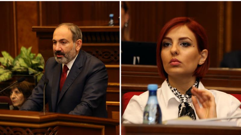 Հայաստանը փոքր երկիր է, եթե շատ փորփրենք, հնարավոր է՝ ձեր ընտանիքի հետ էլ կապեր գտնվեն եւ ես կհանձնարարեմ անպայման էդ հարցը գտնեն. Նիկոլ Փաշինայնը՝ Անի Սամսոնյանին