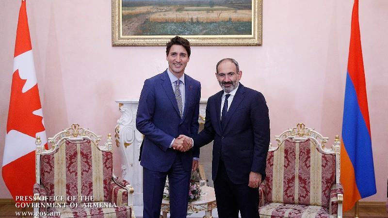 Հայաստան-Կանադա համագործակցությունն ունի խորացման մեծ ներուժ. Փաշինյանը շնորհավորել է Թրյուդոյին