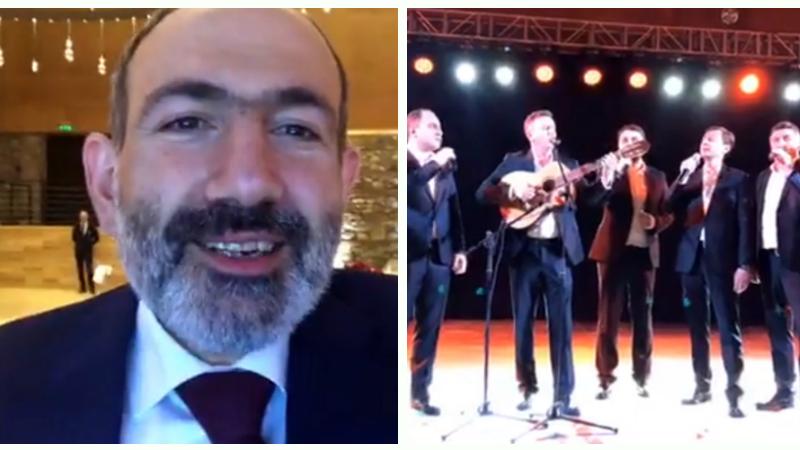 (Տեսանյութ) «Ով սիրուն, սիրուն»-ը՝ Նիկոլ Փաշինյանի և վրացական երգչախմբի կատարմամբ