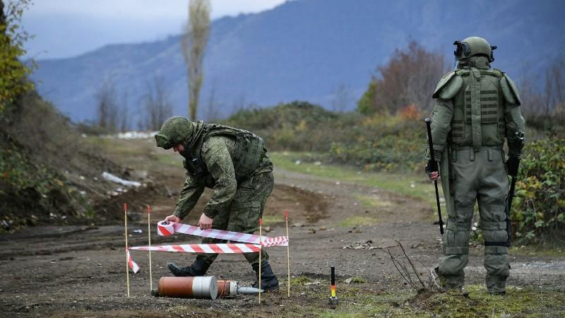Ռուս զինվորականները Լեռնային Ղարաբաղում մեկ օրում 104 պայթյունավտանգ առարկա են ոչնչացրել