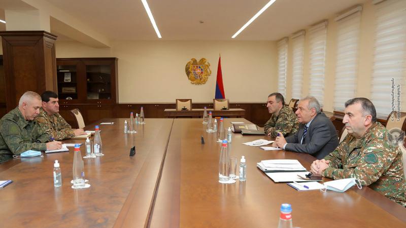Վաղարշակ Հարությունյանն ընդունել է ՌԴ խաղաղապահ զորախմբի հրամանատար Ռուստամ Մուրադովին