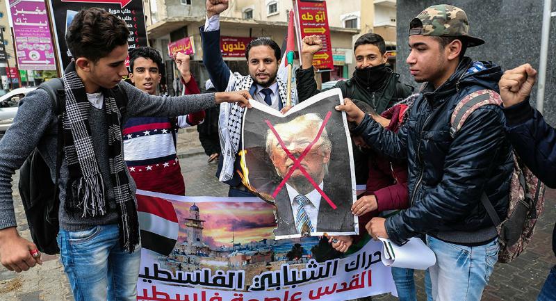 Պաղեստինցիները զանգվածային բողոքի ցույցեր են անցկացնում Թրամփի որոշման դեմ