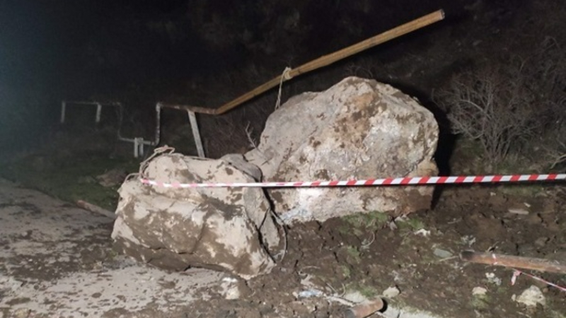 Քարաթափում Նուռնուս գյուղում. վնասվել է համայնքը սնուցող 100 մմ տրամագծով գազատար խողովակը