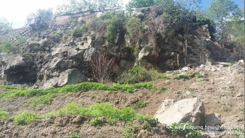 Քարաթափում է եղել. Շնող գյուղում փրկարարները տարհանել են 5 ընտանիքի բնակիչներին