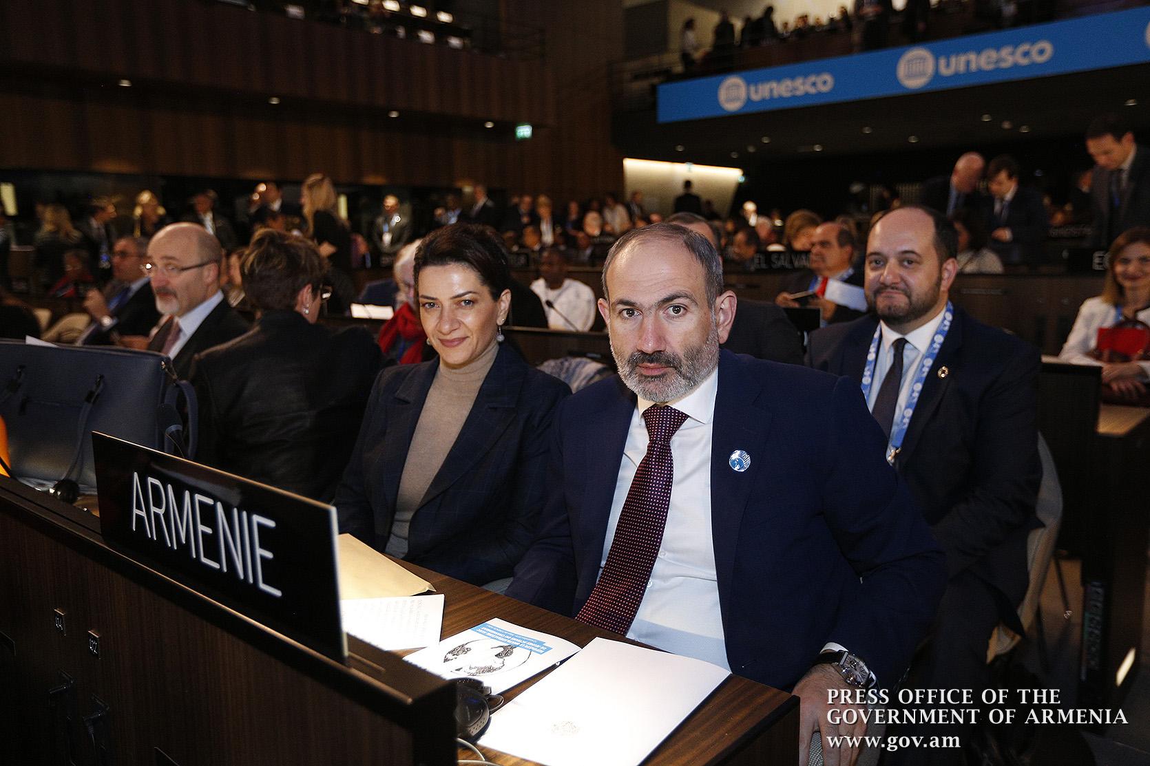 Նիկոլ Փաշինյանը և Աննա Հակոբյանը մասնակցել են ՅՈՒՆԵՍԿՕ-ի 40-րդ գլխավոր կոնֆերանսի աշխատանքներին