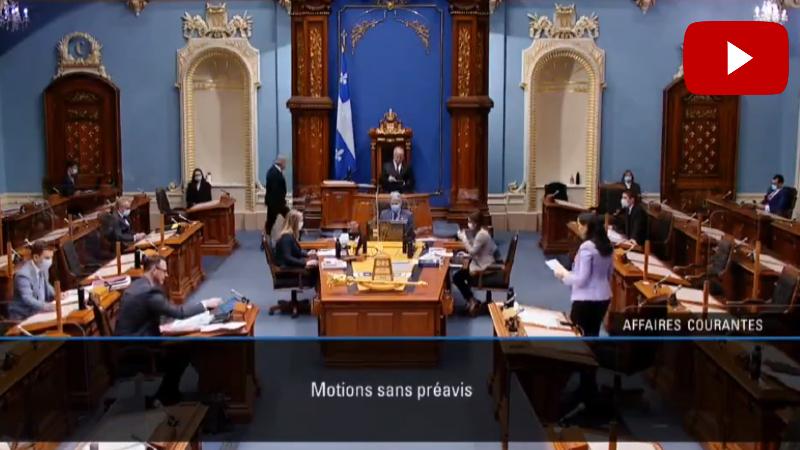 Քվեբեկի Ազգային ժողովը միաձայն ընդունել է Հայոց ցեղասպանության 106-րդ տարելիցը հիշատակող բանաձև (տեսանյութ)