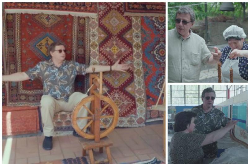 «Ուզում ենք այստեղ ապրել». ռուս հաղորդավարին Հայաստանում նկարահանումներ անելիս հրապուրել են հայկական չրերն ու թոնրի խորովածը