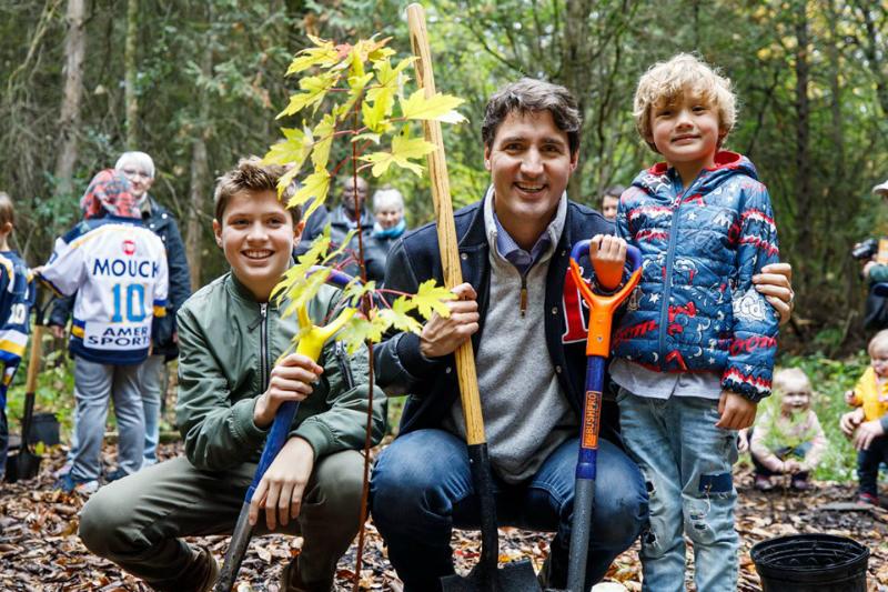 Տնկում եմ ծառեր երեխաներիս հետ և երեխաներիս համար. Թրյուդո