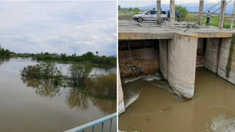 Ռանչպար գյուղի մոտակայքով անցնող Մեծամոր գետը վարարել է․ ջուրը լցվել է բնակիչների տները. ԱԻՆ