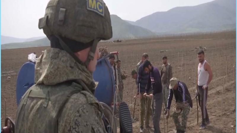 Ռուս խաղաղապահներն ապահովում են Արցախում գյուղատնտեսական աշխատանքների անվտանգությունը. ՌԴ ՊՆ