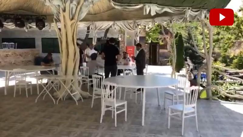 Ոստիկանությունը այն ռեստորանում է, որտեղ տեղի է ունեցել «ԱԱԾ» մասնակցությամբ հարսանեկան անակնկալը (տեսանյութ)