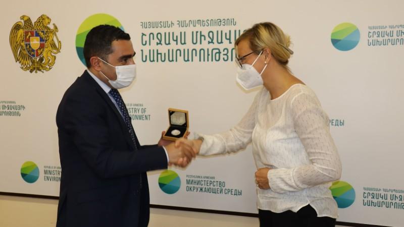 Ռոմանոս Պետրոսյանն ընդունել է GIZ-ի Հայաստանի գրասենյակի տնօրեն գլխավորած պատվիրակությանը