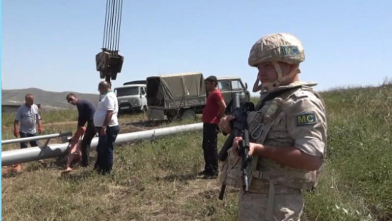 Ռուս խաղաղապահները ԼՂ-ում ապահովում են ենթակառուցվածքների վերականգնման աշխատանքների անվտանգությունը