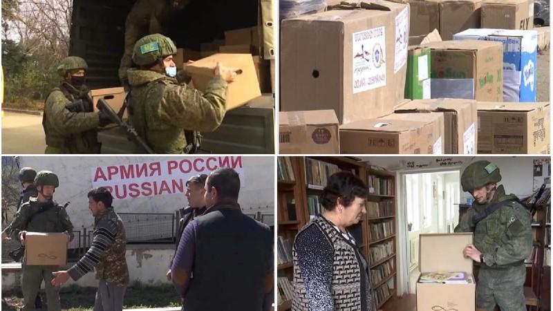 Ռուս խաղաղապահները մարդասիրական օգնություն են հասցրել Արցախի Թաղավարդ գյուղ (լուսանկարներ)