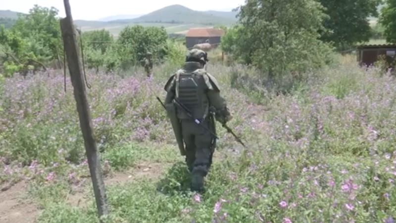 ՌԴ խաղաղապահները ԼՂ Մարտունու շրջանում ականազերծման աշխատանքներ են կատարում