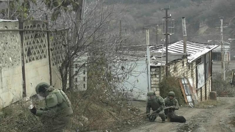 Ռուս խաղաղապահները ԼՂ-ում օրվա ընթացքում հայտնաբերել և ոչնչացրել են 172 պայթյունավտանգ առարկա. ՌԴ ՊՆ