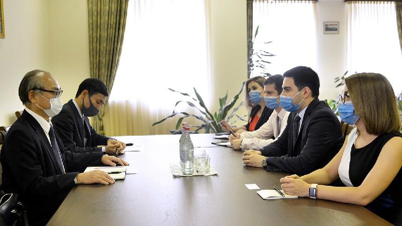 Ռուստամ Բադասյանը Ճապոնիայի դեսպանի հետ քննարկել է փոխգործակցությունը խորացնելուն ուղղված մի շարք հարցեր