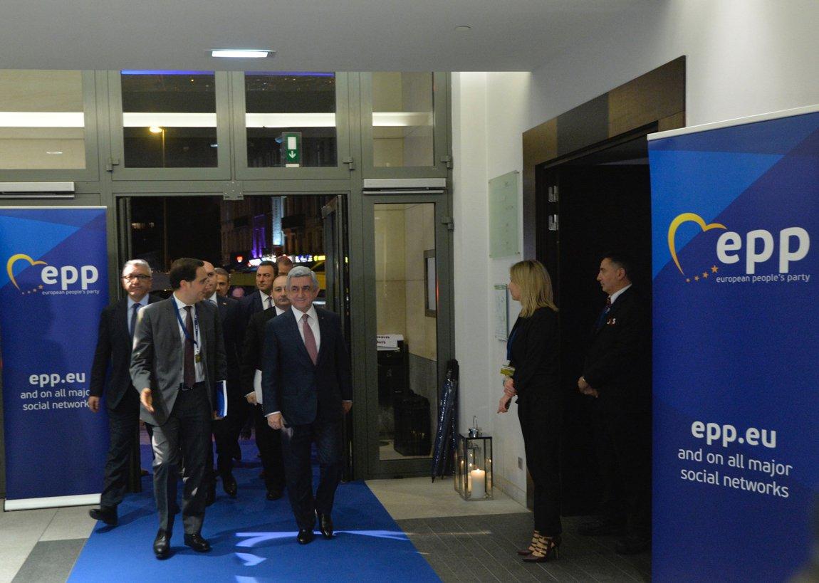 Սերժ Սարգսյանը Բրյուսելում մասնակցում է ԵԺԿ գագաթնաժողովին